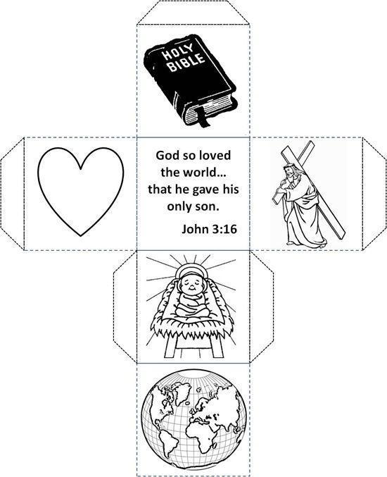 A John 3 16 Craft For Kids Cubbies Pinterest Craft