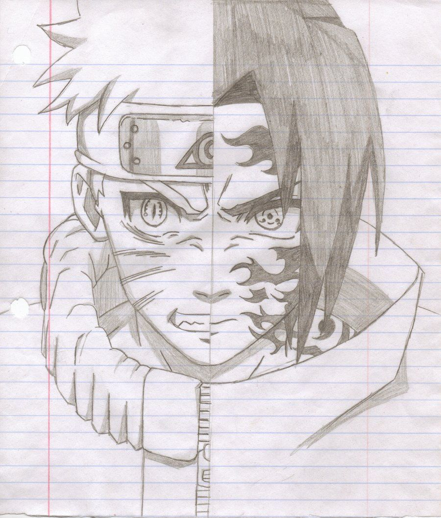 Lukisan Sasuke Pencil Black And White