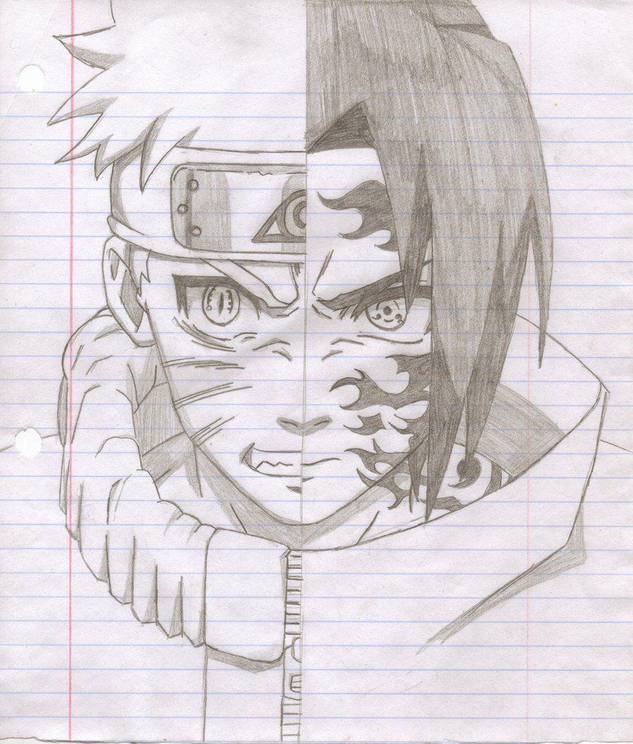 60 Best Naruto Drawings Images On Pinterest: Naruto Vs Sasuke Drawings