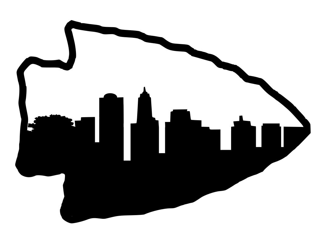 Arrowhead With Kansas City Skyline Kansas City Skyline City Skyline Skyline