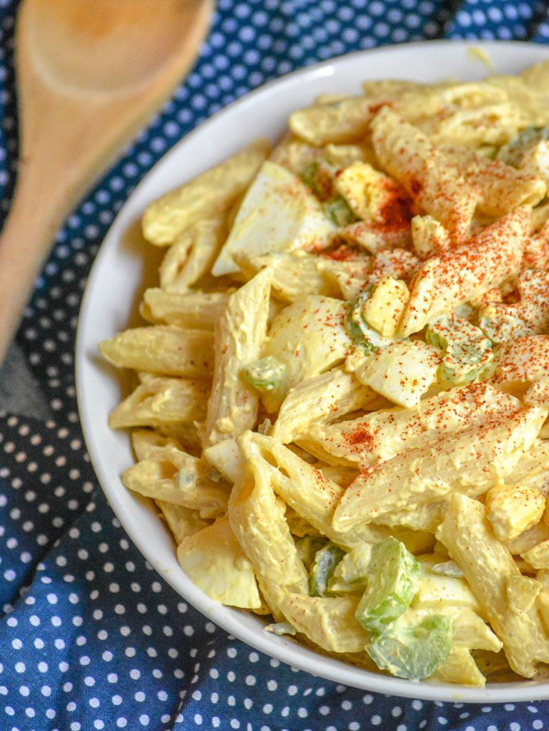 Egg Macaroni with Salad Recipe by