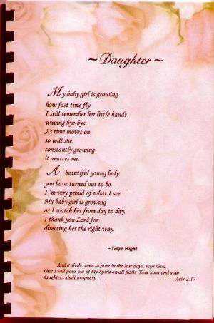 Poems To Daughter From Mother 3