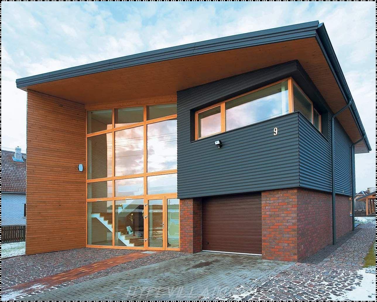 Tiny houses Brick House Modern Brick And Wooden House Fresh