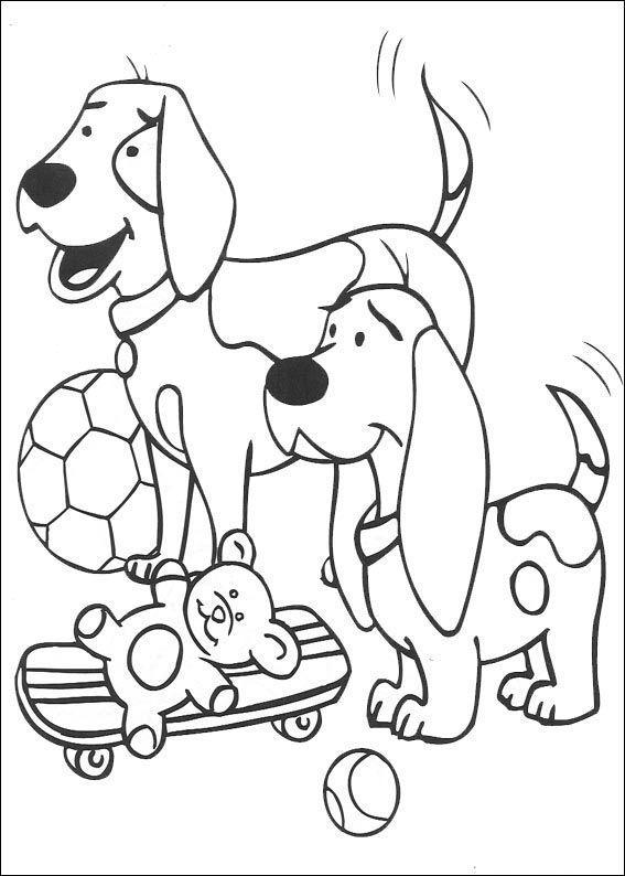 Clifford Tegninger til Farvelægning. Printbare Farvelægning for børn. Tegninger til udskriv og farve nº 7