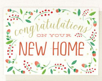 Congrats On Your New Home Card New Homes Moving Cards Cards