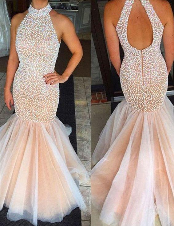 754efa4c3268 mermaid prom dresses,open back prom dresses,pink prom dresses,pearls prom  dresses,luxury prom dresses