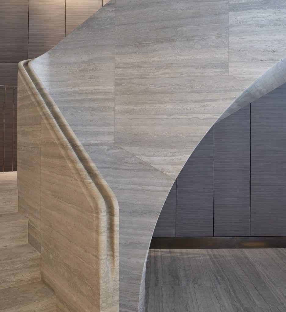 travertine stair - jamie fobert architects | 手摺 | pinterest