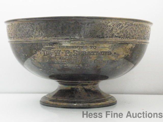Dr William Spratling 1904 Sterling Silver Presentation antique Fruit Bowl Gorham #Gorham & Dr William Spratling 1904 Sterling Silver Presentation antique Fruit ...