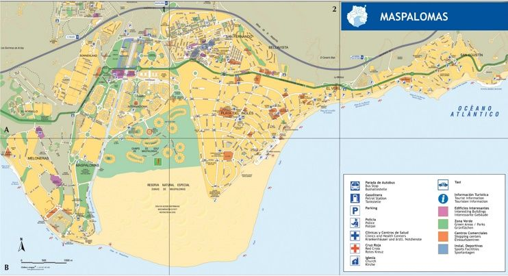 Maspalomas tourist map Maps Pinterest Tourist map Spain and City