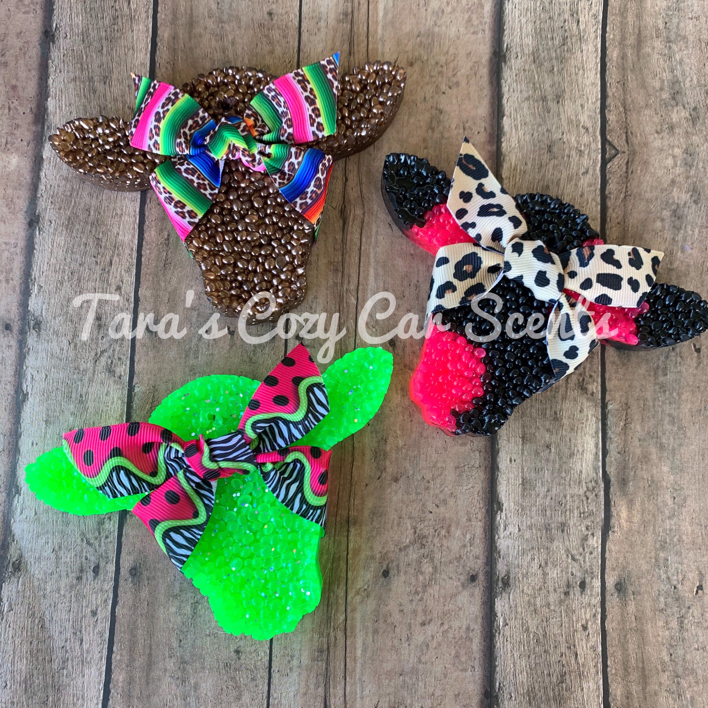 Cow Head w/Acrylic Ear Tag •Freshie• {Choose your Scent