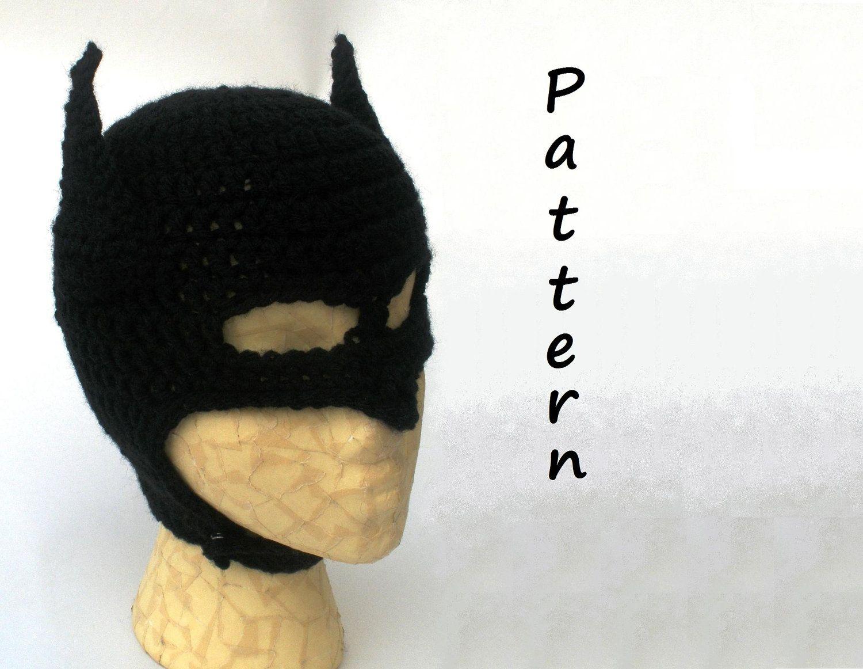 Pattern-Bat Mask (with strap) -PDF file. $9.25, via Etsy.   Crochet ...
