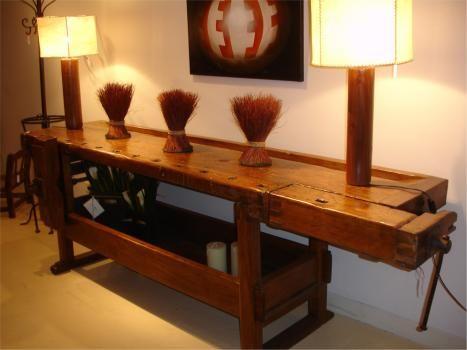 Idea 2 para banco de carpintero antiguo wood benches for Mesa de carpintero
