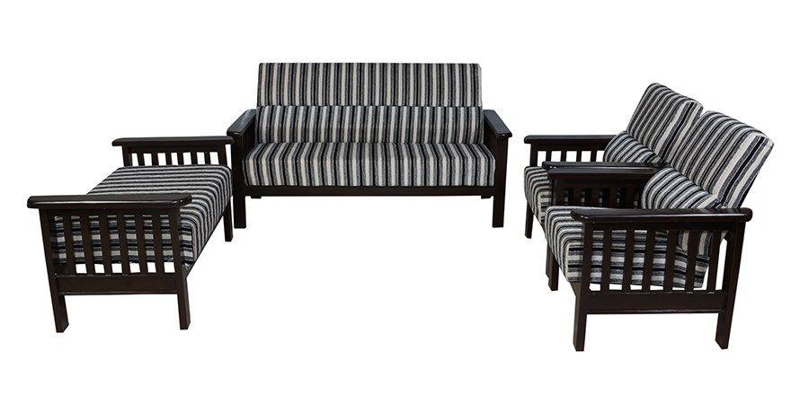 Buy Bantia Cerritos Sofa Set Online India At Best Price With Images Wooden Sofa Sofa Set