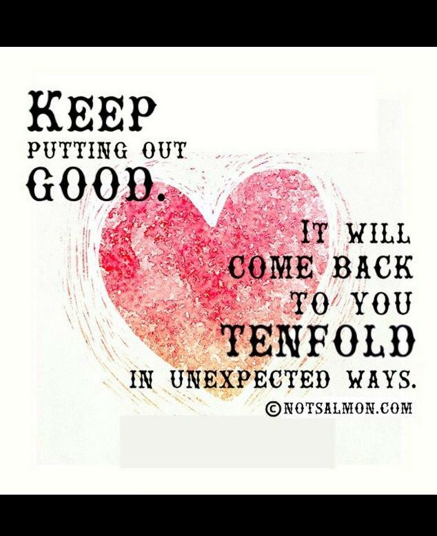 keep doing good!   Karen Salmansohn   Think