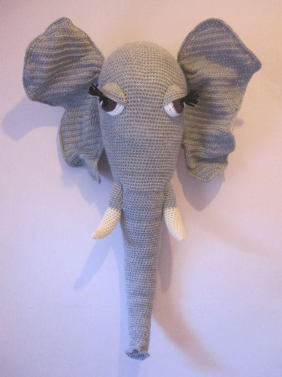 Elephant toy Crochet elephant Baby room decoration Funny stuff ...   760x570