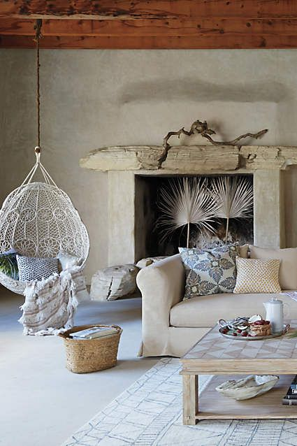 Knotted Melati Hanging Chair Anthropologie No Longer Available But What A Great Room