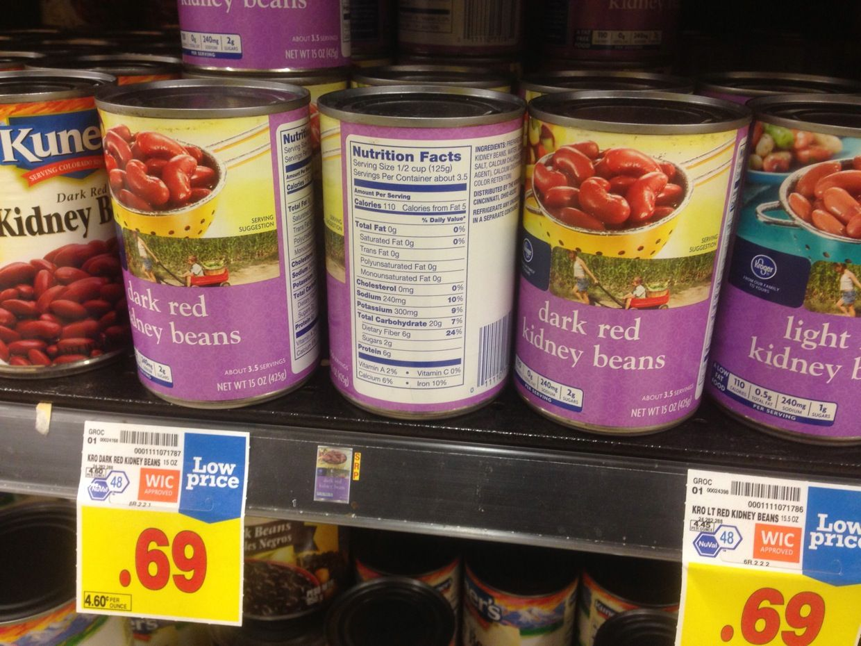 Dark Red Kidney Beans Kroger Red Kidney Bean Kidney Beans Beans