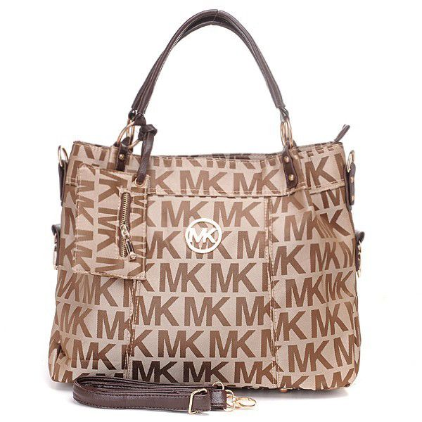 912bd40b81f4 Michael Kors Classic Monogram Large Brown Totes Outlet