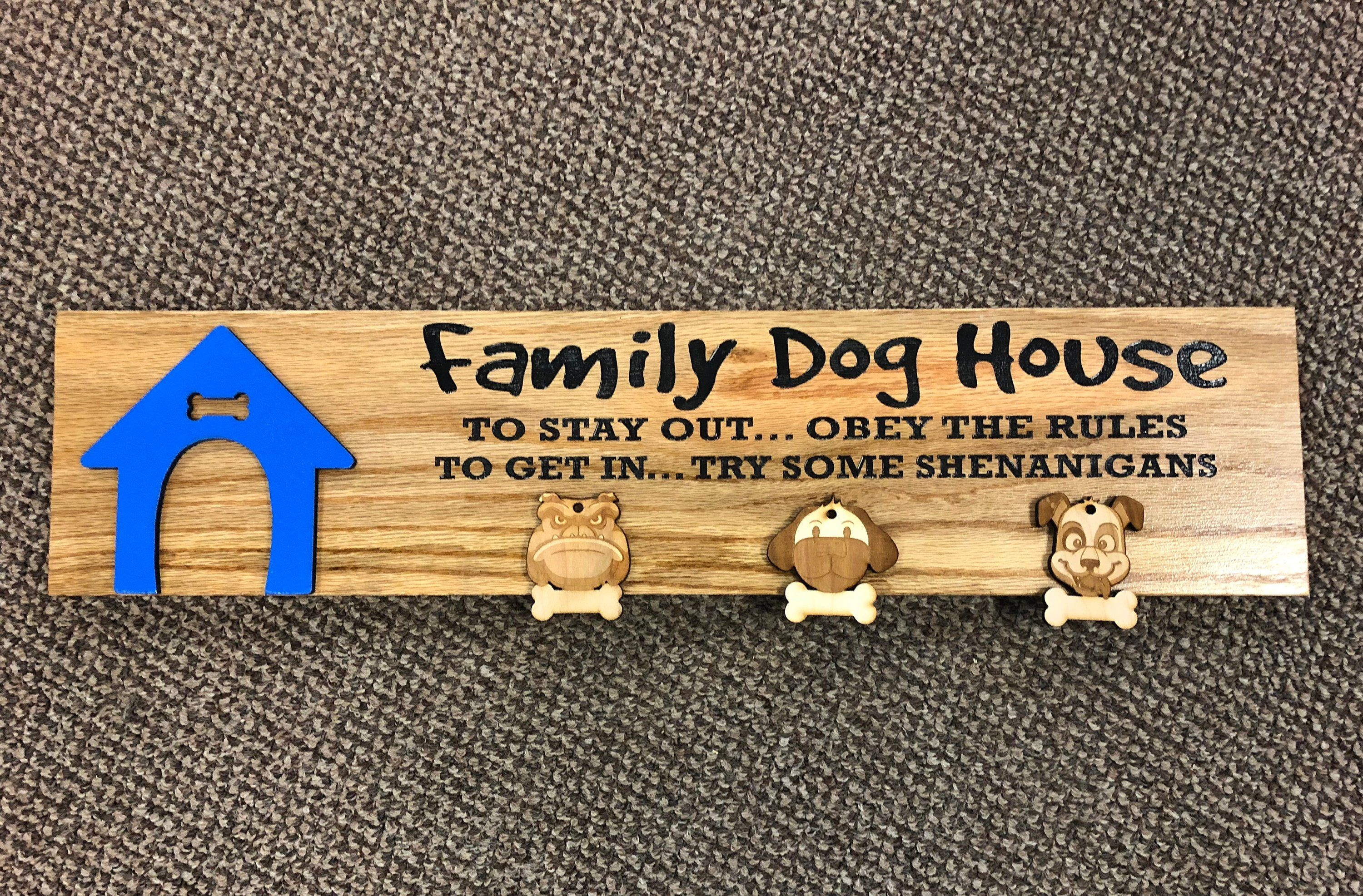 Dog House Plaque Family Dog House Sign Replicated Vintage Dog