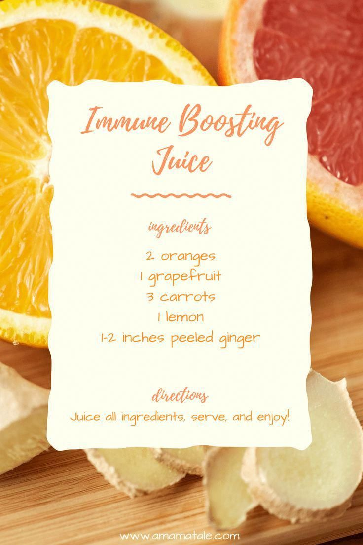 Immune Boosting Juice Recipe  Keep healthy and give your immune system a boost with this healthy juice recipe