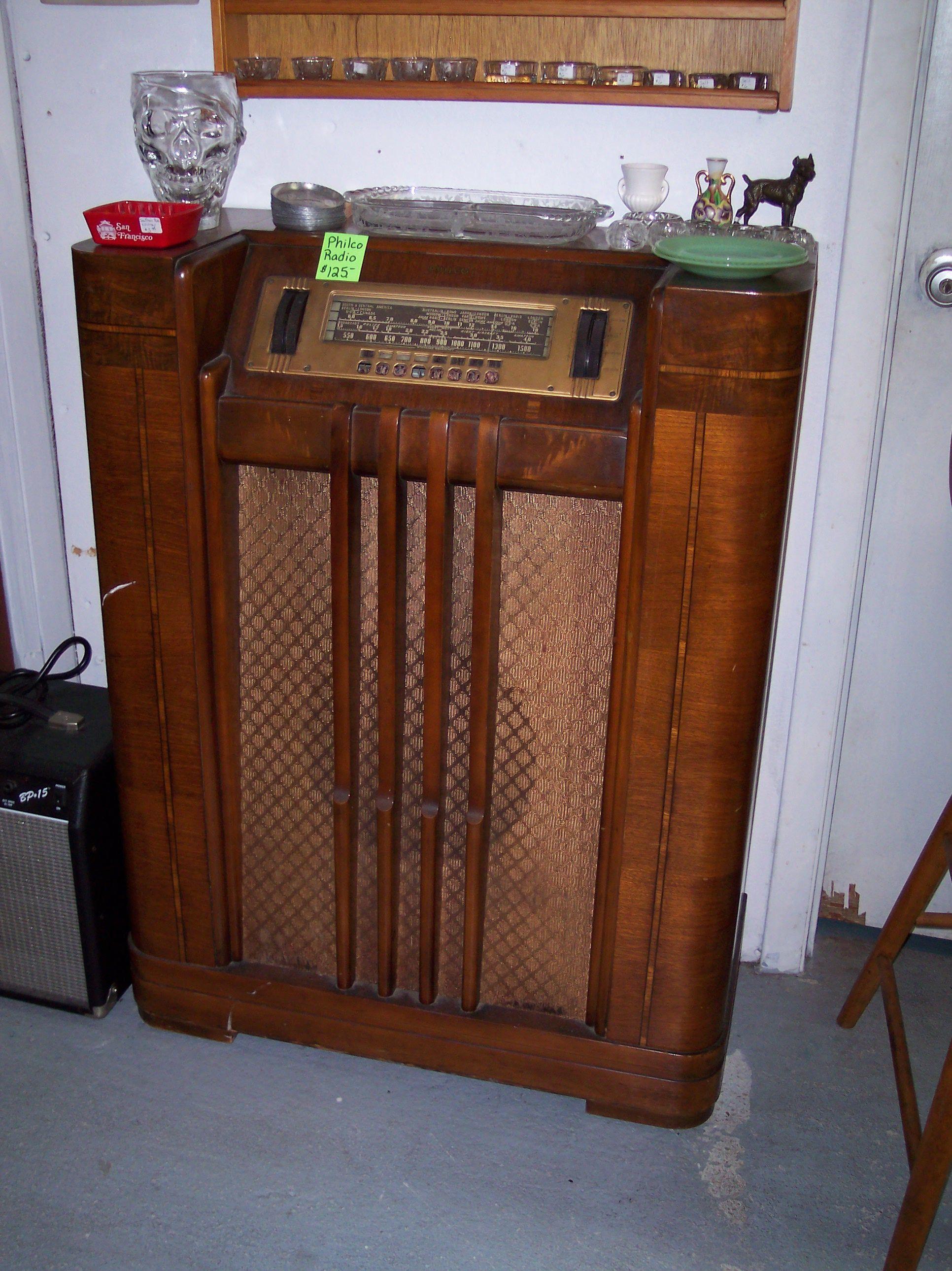 Philco Radio Console Radios Vintage Antique