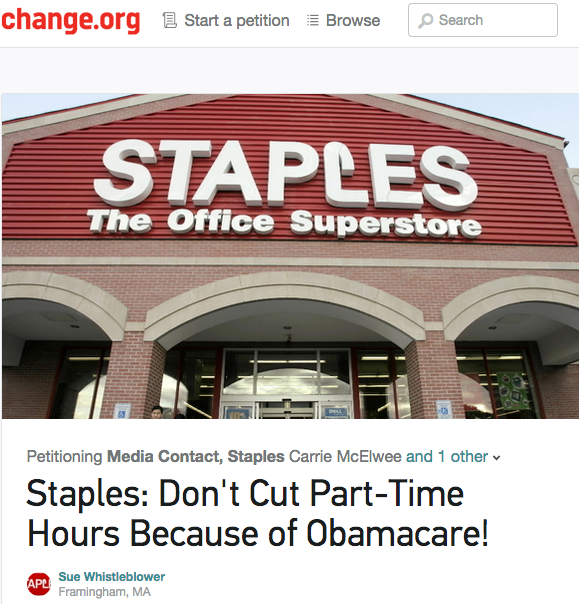 Staples Threatens To Fire Staff For Working More Than  Hours A