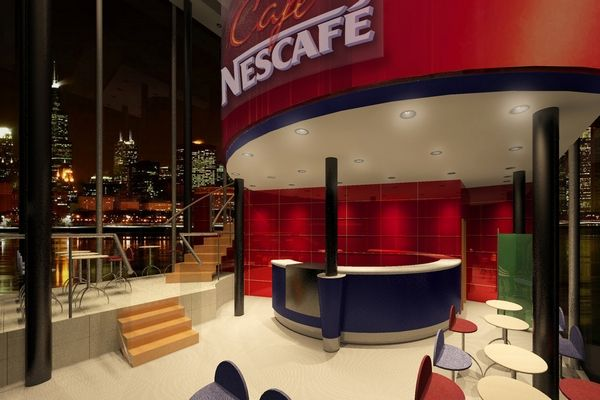Nestl Coffee Shop Revit Architecture Rendering Sample Revitltco