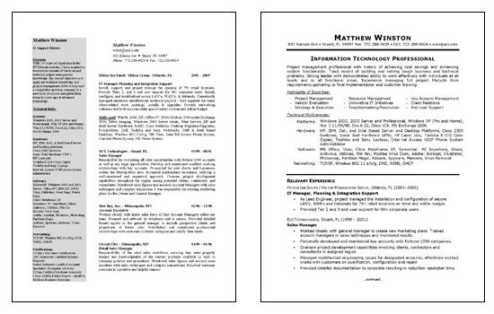 It Manager Resume It Manager Resume Example  Resume Examples And Sample Resume