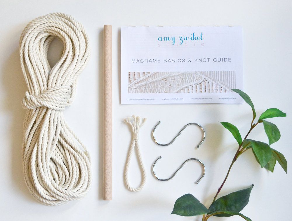 Diy Macrame Wall Hanging Kit With Knot Guide Pattern With Step By Step Photo Instructions Macrame Wall Hanging Macrame Wall Crafty Gifts