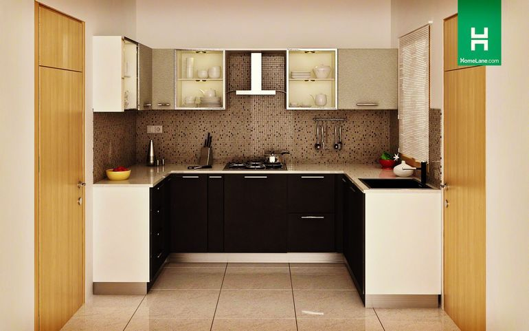 buy heron sleek u shaped kitchen online best price homelane india online call us on u kitchen interior id=21139