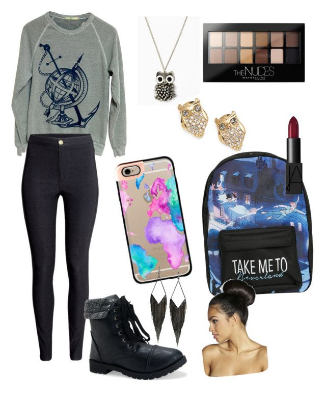 """""""Geography"""" by faithypoo578 on Polyvore featuring Casetify, H&M, Aéropostale, Disney, NARS Cosmetics, Maybelline, Kate Spade, GUESS and Boohoo"""