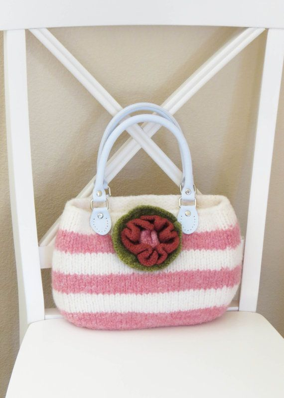 Knit Bag Pattern Felted Purse Pattern Knit por DeborahOLearyPattern ...