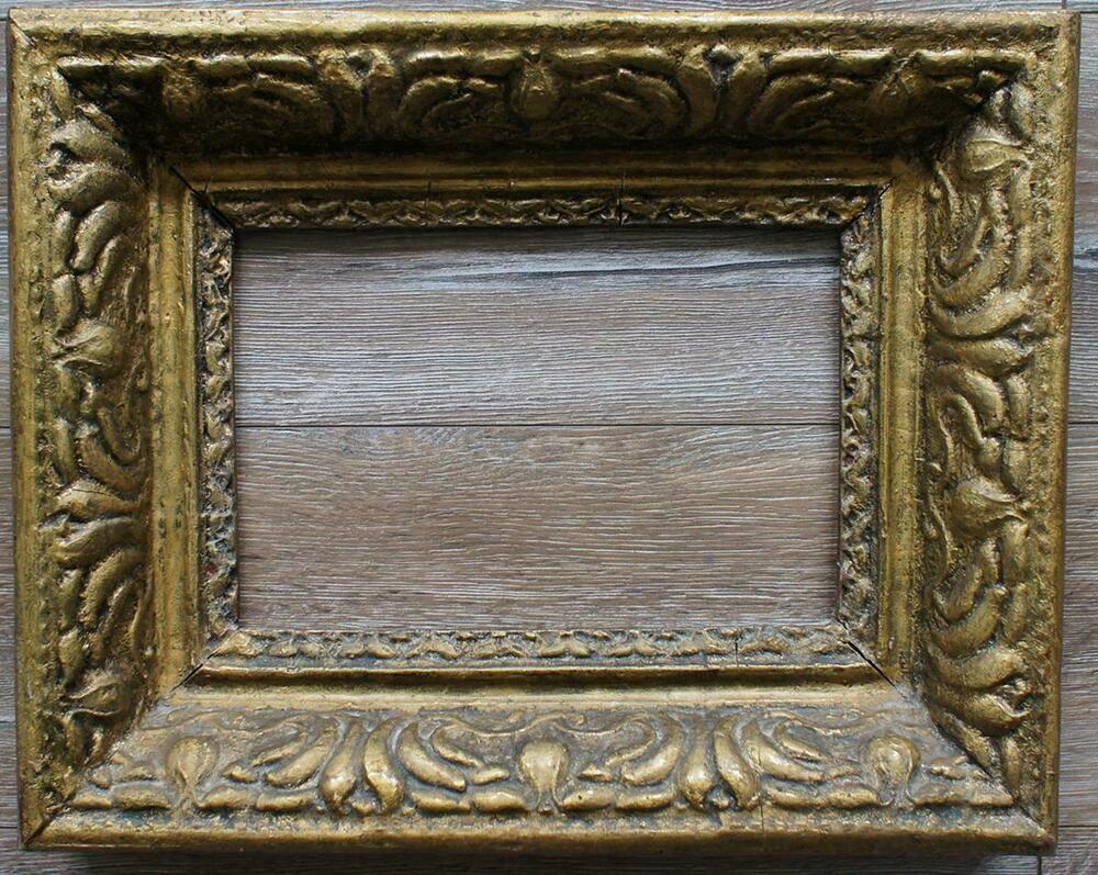 Bilderrahmen Massiv Vergoldet Alter Antiker Barock Rahmen Klein Bilderrahmen Bilder Barock