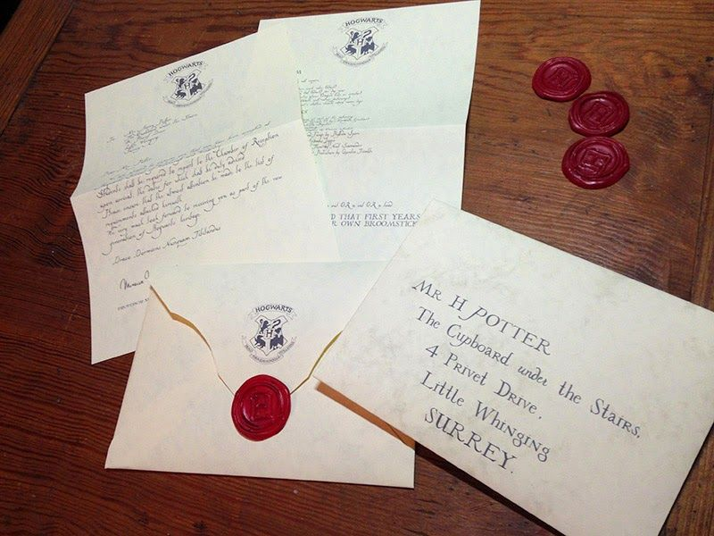 Hogwarts Acceptance Letter Complete  Harry Potter Program