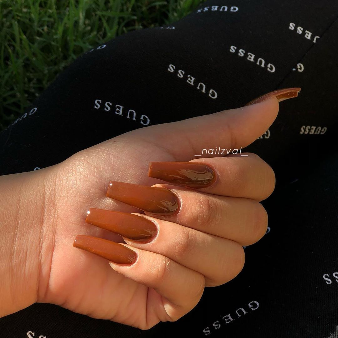 Woow brown is actually a pretty color on nails🔥😍 picked brown since I don…