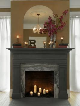 How To Make A Fireplace Mantel Using An Old Door Frame Diy