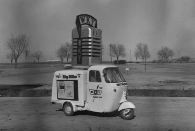 An odd vehicle used by radio station WKY (930 am) in