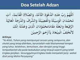 Hasil Gambar Untuk Doa Setelah Adzan Doa Kutipan