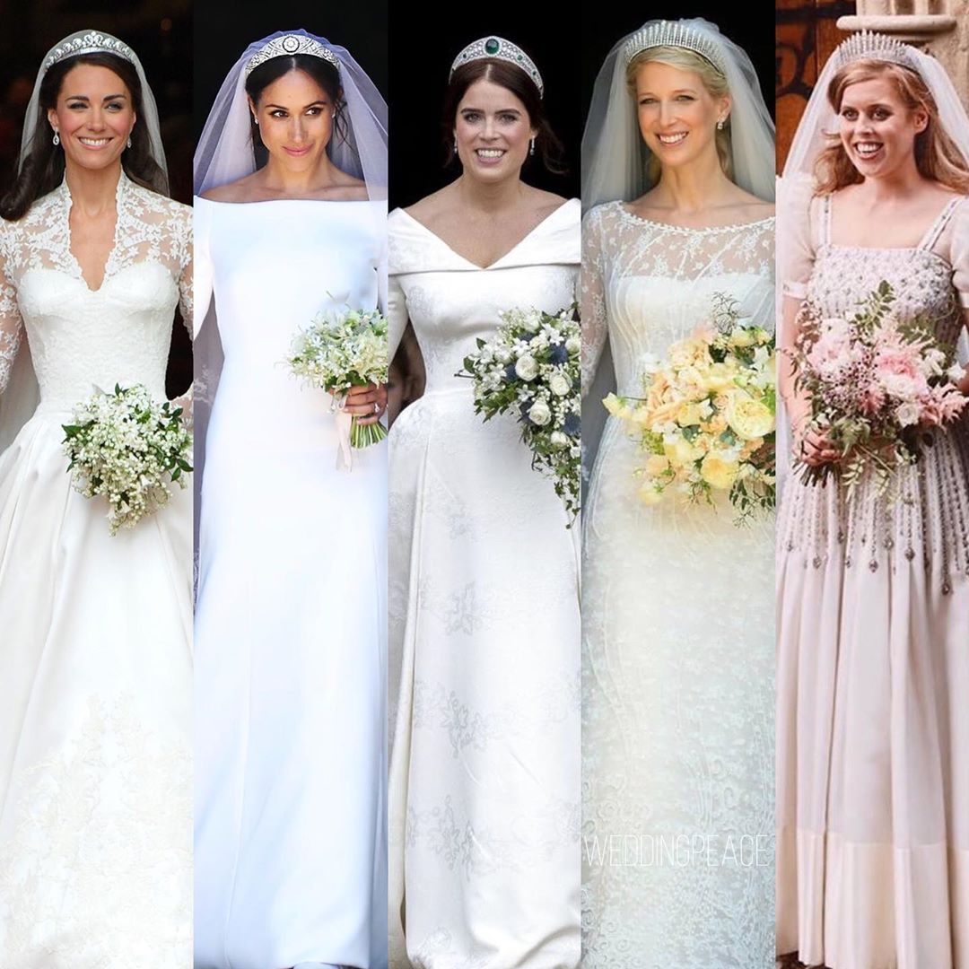 Wedding Diary On Instagram Royalwedding Gorgeous British Brides Which One Is Your Favorite Foll In 2020 Royal Wedding Gowns Royal Wedding Dress Royal Brides