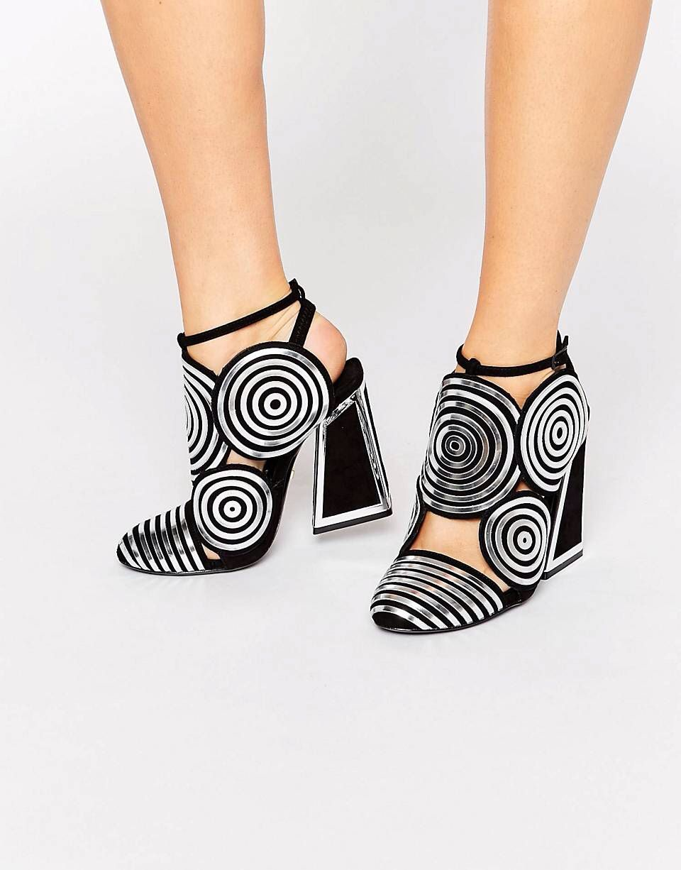 Kat maconie frida black leather sier spiral heeled shoes women heelskat maconie shoes sale s Newest