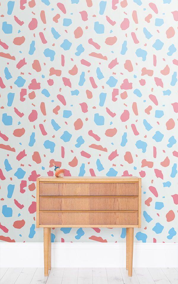 Best Pastel Terrazzo Wallpaper Mural Bedroom Wallpaper Murals 400 x 300