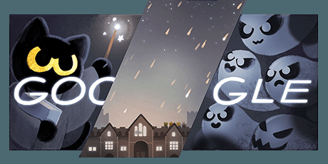 Google Logo Watcher On Twitter Google Doodle Halloween Halloween Doodle Doodles Games