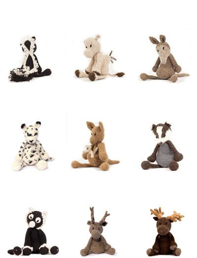 Edwards Menagerie A Book Of Crochet Soft Toy Animal Patterns By
