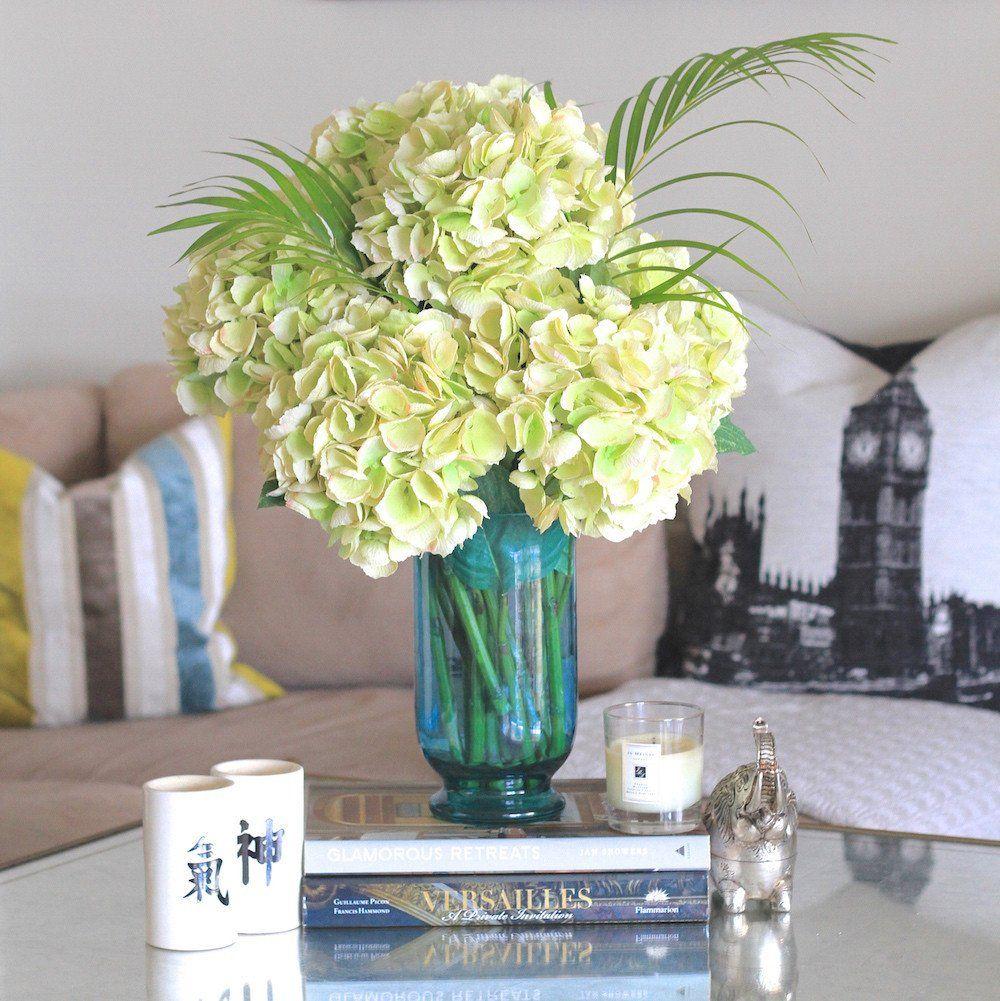 Green Mophead Hydrangea Bunch Of 6 Stems Mophead Hydrangea