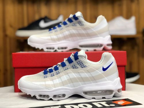d34082952735 Chaussures Homme Nike Air Max 95 Ultra SE White Blue Pas Cher AO9566-100-
