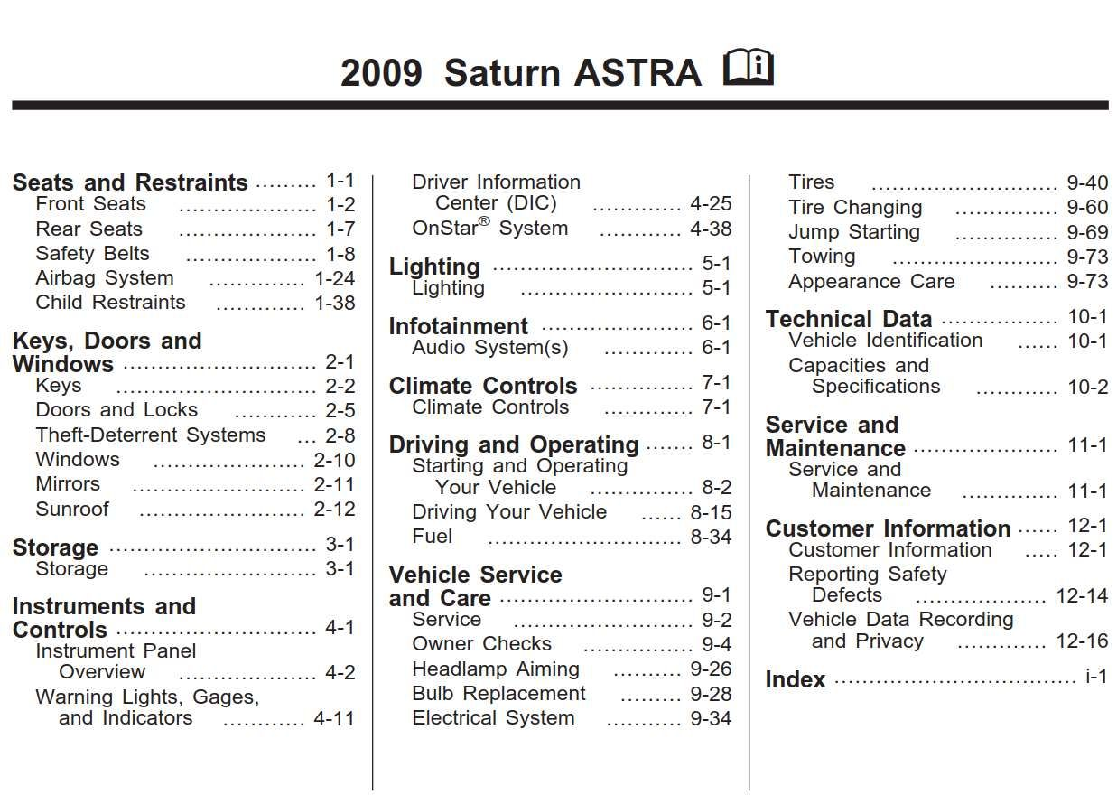 Saturn Astra 2009 Owner S Manual Has Been Published On Procarmanuals Com Https Procarmanuals Com Saturn Astra 2009 Owners Manual Owners Manuals Saturn Manual