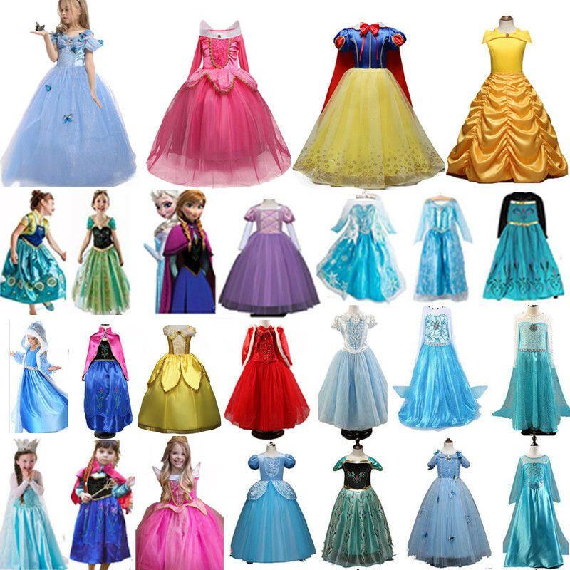 Frozen Kleid Elsa Anna Prinzessin Kostüme Cosplay Kinder Weihnachten Mädchen