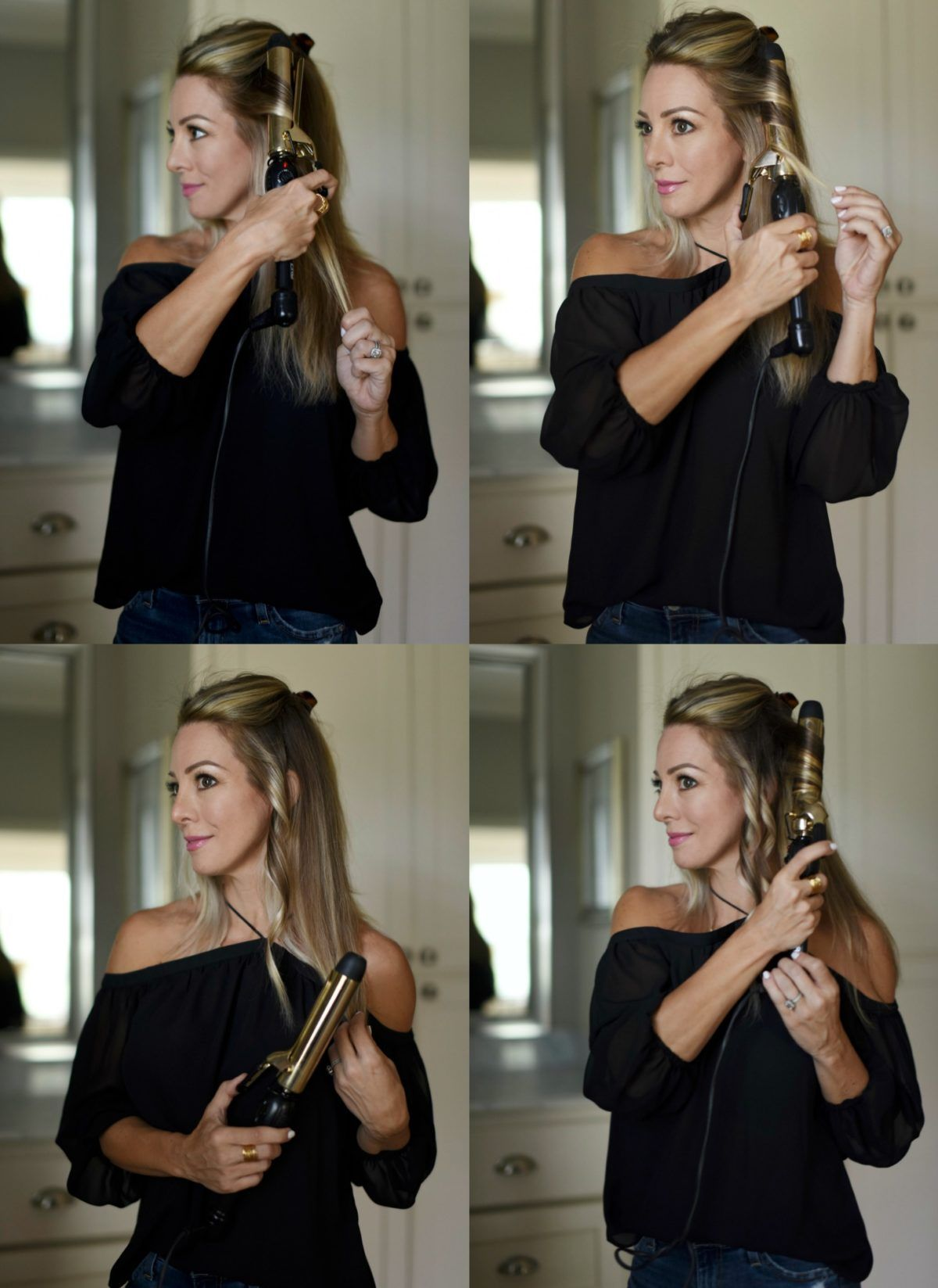 How To Get Beach Waves With A Curling Iron Honey We Re Home Waves Hair Tutorial Beach Wave Hair Beach Waves Hair Tutorial
