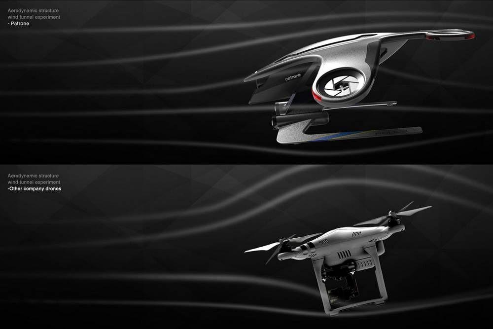 Audi Patrone Police Drone Wordlesstech Drone Audi Drones Concept