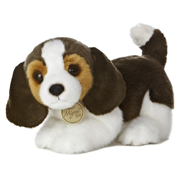 Realistic Stuffed Beagle Puppy 10 Inch Plush Dog By Aurora